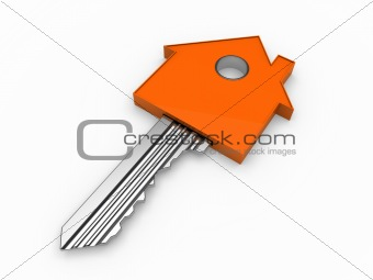 3d key home house orange