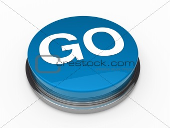 3d button go blue