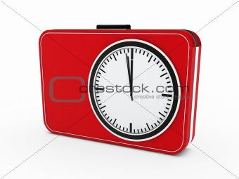 3d time clock alarm red
