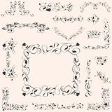 set calligraphic vintage design elements and page decoration vector