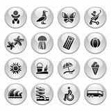 Tourism, Recreation &amp; Vacation, icons set