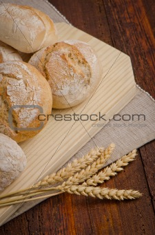 Bread on wood table