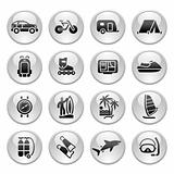 Vacation, Recreation &amp; Travel, icons set