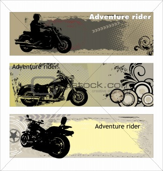 Adventure rider banners