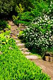 Natural stone garden steps