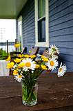 Wildflowers bouquet at cottage