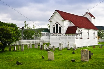 St. Luke's Church and cemetery in Placentia