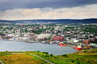 Cityscape of Saint John&#39;s from Signal Hill