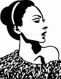 glamour fashion woman illustration