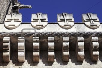 Fragment of facade Palace Bussaco