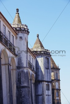 Fragment of building in Coimbra city