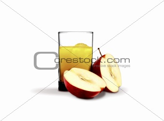 Apple Juice and glass