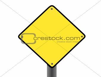 blank yellow signboard
