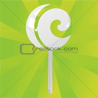green lollipop background