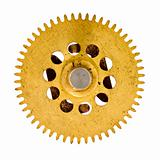 cogwheel on white background