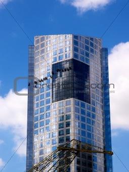 Skyscraper on a blue sky
