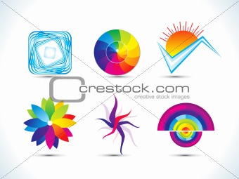 abstract rainbow colorful design