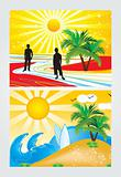 abstract summer holiday theme vector illustration