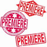 Premiere rubber stamps.