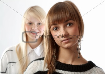 Portrait two girls
