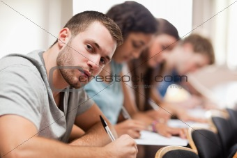 Students sitting for an examination
