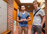 Handsome students posing