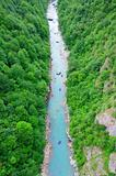 Rafting on the river Tara in Montenegro