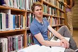 Male student with books