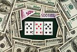 Playing cards and money