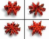 Collection of color snow flake