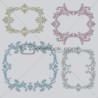 Vintage floral ornaments frames