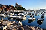 sunset in Lerici port