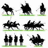 Polo silhouettes set