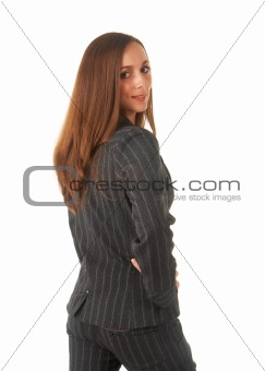 Beautiful brunette businesswoman