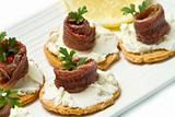 Canapes with anchovy