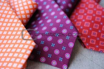 Three colorful Ties