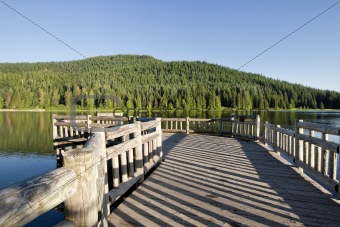 Fishing Pier at Trillium Lake