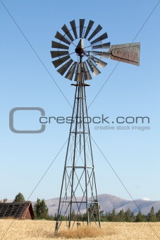 Windmill on Farmland