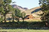 Barn on Farmland Along John Day River