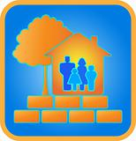 home, family, brick and wood