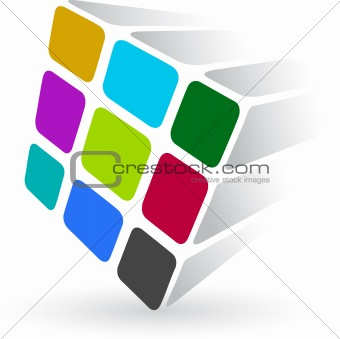 colourful cube logo