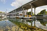 Marina under the Granville Street Bridge Vancouver BC