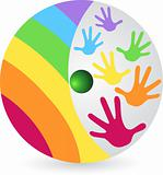rainbow hands logo