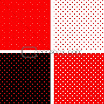 Seamless pattern white and red