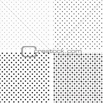 Seamless pattern white and black