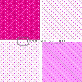 Seamless pattern white and pink