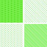 Seamless pattern white and green