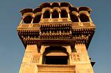 old ancient haveli at jaisalmer fort