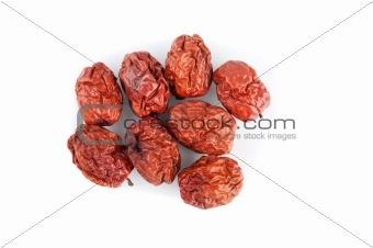 Dried jujube fruits/Chinese dates, which naturally turn red upon