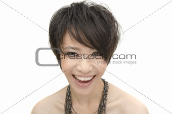 head shot of asian girl smiling